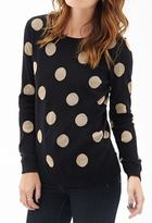 Forever 21 Metallic Dot Crew Neck Sweater