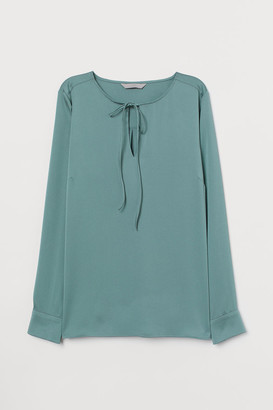 H&M Blouse with Ties - Green