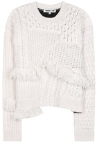 McQ by Alexander McQueen Fringed wool and cashmere sweater