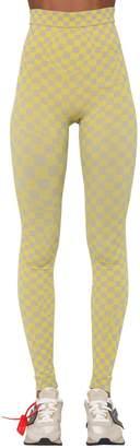 Off-White Off White Tech Intarsia Knit Leggings