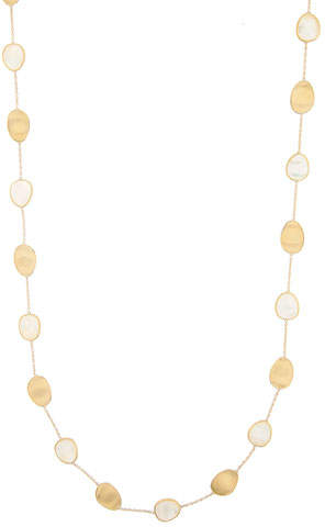 Marco Bicego Lunaria Long Mother-of-Pearl Station Necklace, 36""
