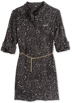 GUESS Splatter-Printed Tunic Shirt, Big Girls (7-16)