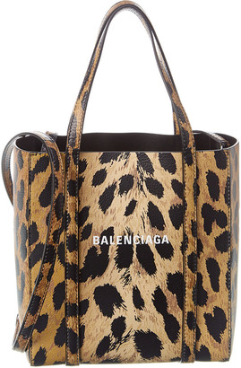 Balenciaga Everyday Xxs Leopard Print Leather Tote