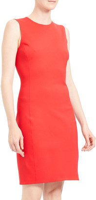 Theory Sleeveless Fitted Scuba Dress