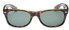 Ray-Ban Unisex New Wayfarer Polarized Sunglasses, 52mm