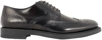 Tod's Tods Logo Embossed Derby Shoes