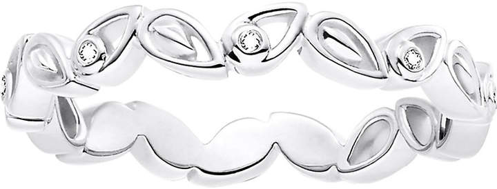 Thomas Sabo Leaves sterling silver and diamond ring