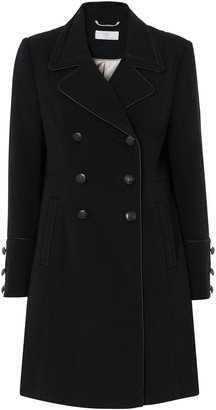 Wallis PETITE Black Military Coat