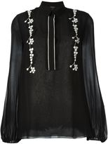 Giambattista Valli floral embroidered blouse - women - Silk/Cotton/Viscose - 44