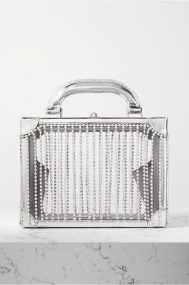 Area Ling Ling Crystal-embellished Metallic Leather-trimmed Pvc Tote - Silver