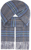 Johnstons Double Face Check Cashmere Scarf