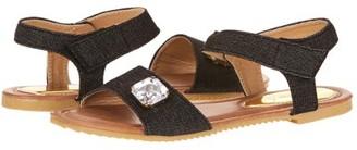 Victoria K. Victoria K Women's Rhinestone Embellished Denim Fashion Sandal
