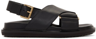Marni Black Fussbett Sandals