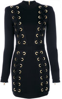 Balmain embroidered fitted dress - women - Polyamide/Spandex/Elastane/Viscose/Brass - 38