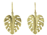 Annette Ferdinandsen Small Palm Leaf Earrings- 10K Gold
