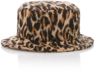 Ruslan Baginskiy Hats Leopard-Print Wool Bucket Hat