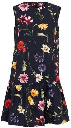 Oscar de la Renta Floral cotton poplin minidress