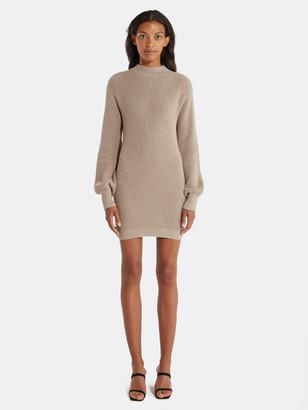 Rosa Mock Neck Mini Sweater Dress