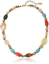 """lonna & lilly Classics"""" Gold-Tone/Brown Multi-Necklace, 17"""" + 3"""" Extender"""