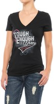 Wrangler Tough Enough to Wear Pink T-Shirt - V-Neck, Short Sleeve (For Women)