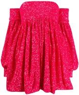 Amen sequined off-the-shoulder cocktail dress
