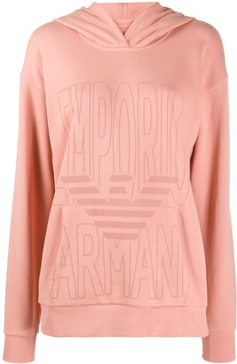 Emporio Armani Maxi Logo Print Hoodie