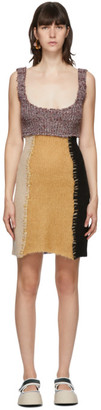 Marni Multicolor Knit Patchwork Dress