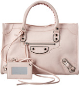Balenciaga Metallic Edge City Small Leather Shoulder Bag