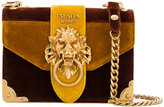 Prada Cahier lion-embellished shoulder bag