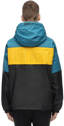 Color Block Rubberized Rain Jacket