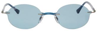 Ray-Ban Blue Round Rimless Sunglasses