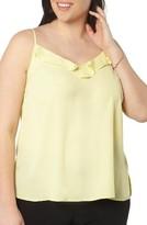 Evans Plus Size Women's Frill Front Camisole
