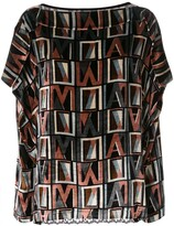 Antonio Marras Initial Logo Print Lace Detail Blouse