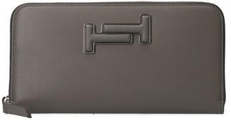 Tod's Double T Logo Zip Around Wallet