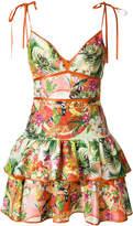 Piccione Piccione Piccione.Piccione tropical print dress
