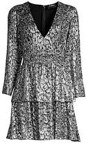 The Kooples Women's Sequin Animal-Print Mini Dress