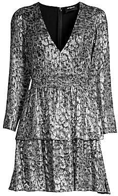 The Kooples Women's Sequin Animal-Print Mini Dress