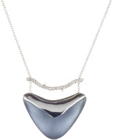 Alexis Bittar Crystal Bar Shield Pendant Necklace