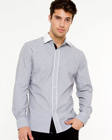Le Château Cotton Micro Stripe Slim Fit Shirt