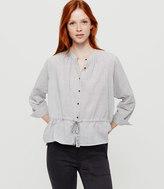 Lou & Grey Fineline Drawstring Shirt