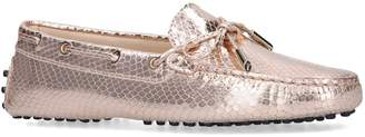 Tod's Embossed Metallic Gommino Driving Shoes