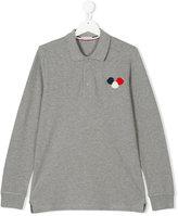 Moncler logo polo shirt - kids - Cotton - 14 yrs