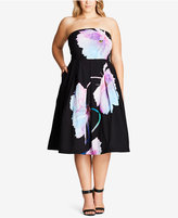 City Chic Trendy Plus Size Strapless Fit & Flare Dress