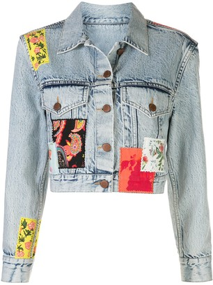 Alice + Olivia Patchwork Cropped Jacket