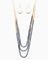 Charming charlie Colorblock Beaded Layers Necklace Set
