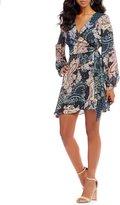 Takara Paisley-Print Wrap Dress