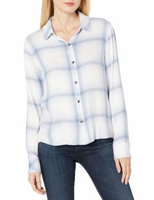 Splendid Women's Long Sleeve Plaid Button Down Shirt