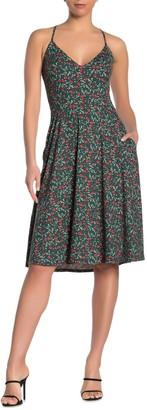 Socialite V-Neck Strappy Jersey Fit & Flare Dress