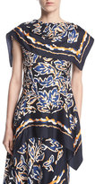 Peter Pilotto Silk Twill Scarf Blouse
