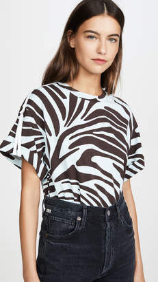 3.1 Phillip Lim Short Sleeve Printed Zebra T-Shirt